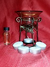 Oil Burner with a FREE 1/2oz. Oil and Dozen FREE Tea Lights